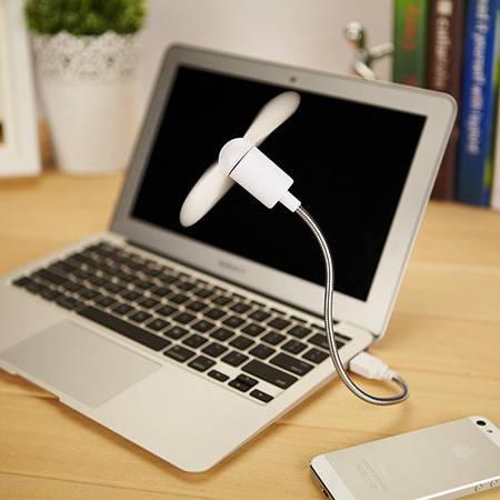 红兔子 USB扭曲蛇形大风力小风扇笔记本电脑USB移动电源