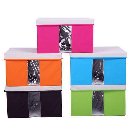 友纳 多功能透明窗可视 收纳箱 收纳盒 可视箱(小号)蓝色