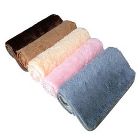 普润 珊瑚绒地垫 韩版热销门垫 吸水防滑细纤维40*60cm 咖啡色DB016