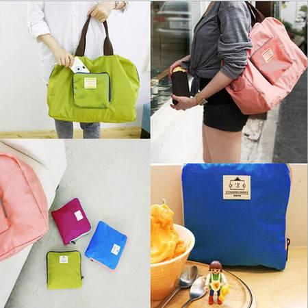 2015年韩国旅行可折叠收纳包购物袋防水单肩包收纳袋 颜色随机