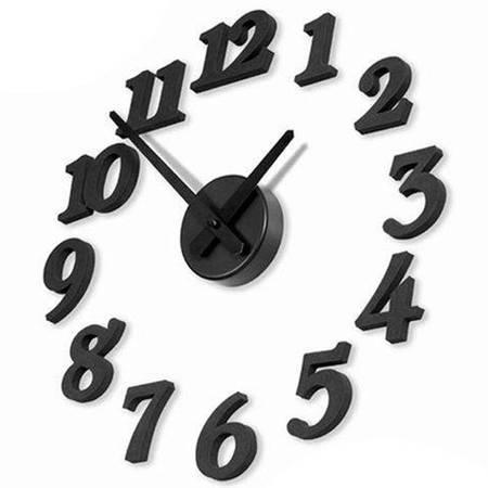 普润 创意DIY挂钟 数字挂钟 数字挂钟壁钟 黑色BW010