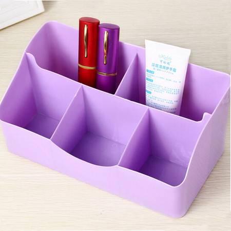 炫彩爱心办公桌面整理盒 5格化妆品收纳盒 创意五格爱心杂物收纳 紫色BS002