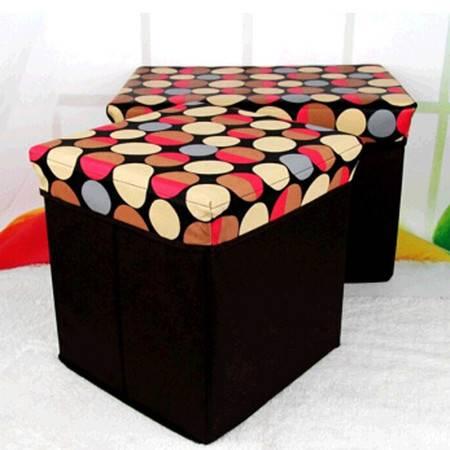 现代简约加厚防尘折叠收纳凳储物凳换鞋凳收纳箱大号有盖