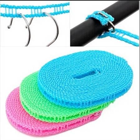 防滑防风晾衣绳 栅栏式晒衣绳 晒被绳 3米晾晒绳 户外旅行挂衣绳KA1202