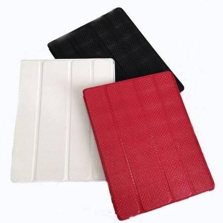 iPad2/3鳄鱼纹保护套 防水防震智能唤醒 红色