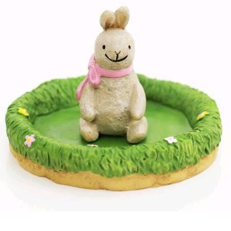 E先生高尔夫球场栽培 OEM树脂礼品 DIY迷你生态玩具 兔先生XM4303