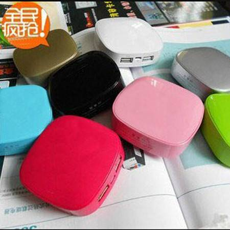 V2ROCK唯图诺克苹果4s5s/6通用迷你万能移动电源方形小巧型充电宝随身充 粉色      品
