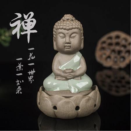 许愿小僧 如来塔香檀香炉 2小时盘香炉香插熏香陶瓷龙泉青瓷香炉XH6202
