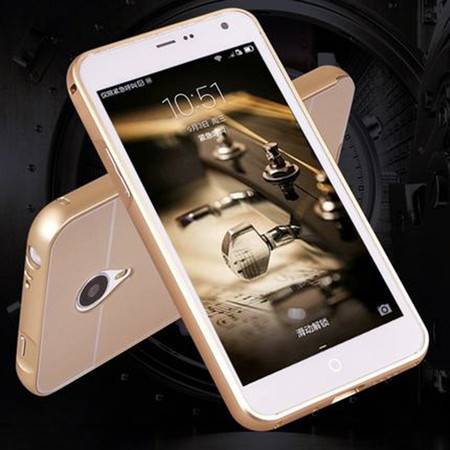 魅族MX4手机壳 魅族MX4 后盖 魅族MX4金属边框 外壳保护套手机套 (土豪金)XG4204