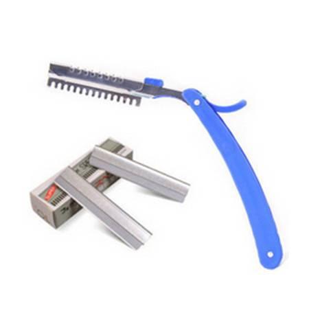 修眉刀刮眉刀眉毛刀 修眉工具套装刀片可折叠 颜色随机XF3201