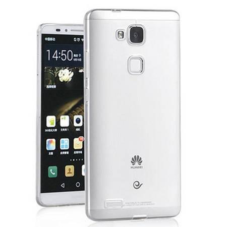 华为mate7手机套 Ascend6寸透明外壳(水晶透明色)