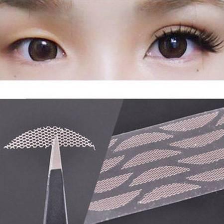 隐形蕾丝双眼皮贴 无痕网纱眼皮贴送胶水XG7302