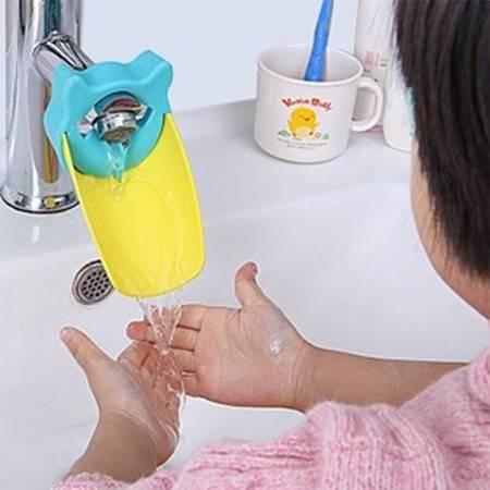 儿童水龙头延伸器幼儿宝宝洗手龙头 洗手辅助器 导水槽 蓝色XG2201