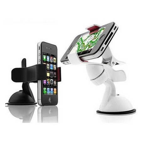 车载迷你手机架 可旋转导航支架 iphone手机夹子 黑色DJ012