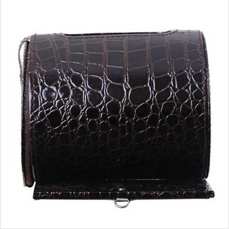 开馨宝圆筒纸巾盒/车用纸巾抽/可挂式纸巾盒-咖啡色鳄鱼纹HI3202