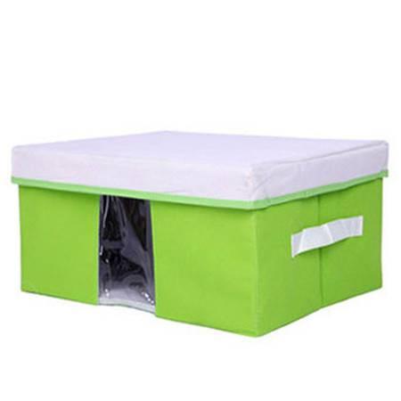 友纳 多功能透明窗可视 收纳箱 收纳盒 可视箱(大号)绿色