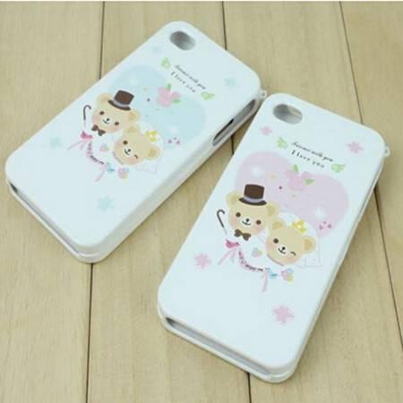 韩国happymori 苹果iphone 4 4s 双面前后保护壳 XJ5101手机套手机壳