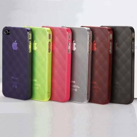 V2ROCK唯图诺克菱格iphone4/4S苹果手机套保护壳清水套颜色随机XI2203