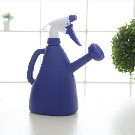 普润 糖果色加厚双头两用洒水壶 喷水壶--蓝色