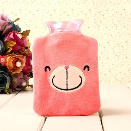 普润 可拆洗可爱卡通迷你热水袋 粉色轻松熊