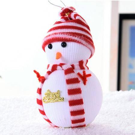 18CM圣诞雪人娃娃 圣诞树场景装饰用品 儿童礼物