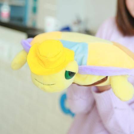 毛绒卡通 充电热水袋防爆暖水袋毛绒 电暖宝暖手宝可爱彩龟