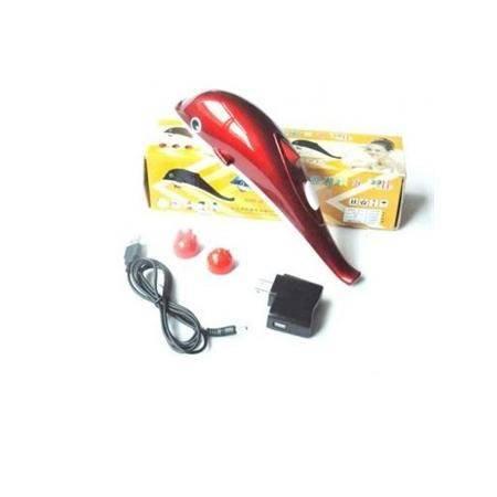蜀乐8826 按摩器小海豚按摩棒 电源车载USB电池四用按摩锤 XU4402颜色随机