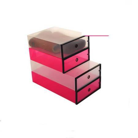 星空夏日 靴子收纳盒 透明鞋盒短靴 白色