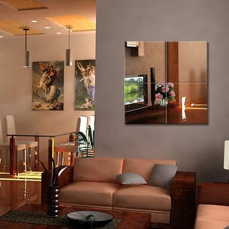 全身镜无框镜子壁挂粘贴试衣镜宿舍舞蹈壁挂粘贴组合镜四片30X30厘米-赠免钉胶+粘胶