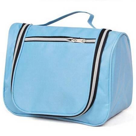 普润 多功能包中包收纳包 化妆包内胆包内包 整理包洗漱包 蓝色