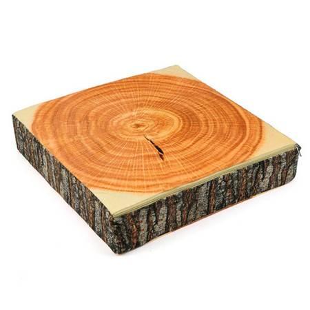 普润 创意高仿真方形木块沙发靠垫 坐垫 办公靠垫