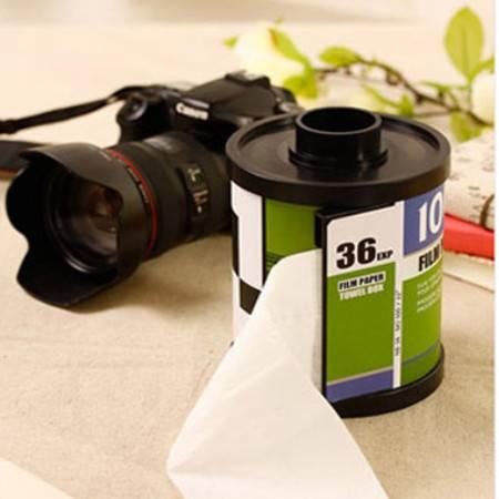 创意胶卷纸巾抽/纸巾盒-绿色