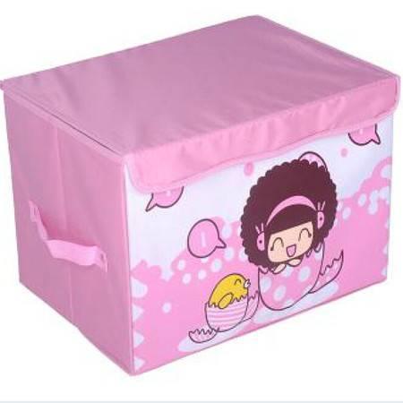 友纳 牛津布卡通系列印花卡通收纳箱 儿童玩具卡通收纳盒 收纳箱(迷糊娃娃)