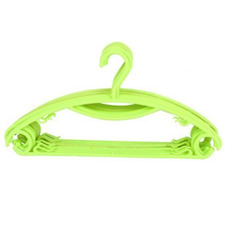 普润 糖果色塑料彩虹晾晒衣架防滑衣服架晾衣架衣挂衣撑阳台晾衣撑 果绿色 10只装