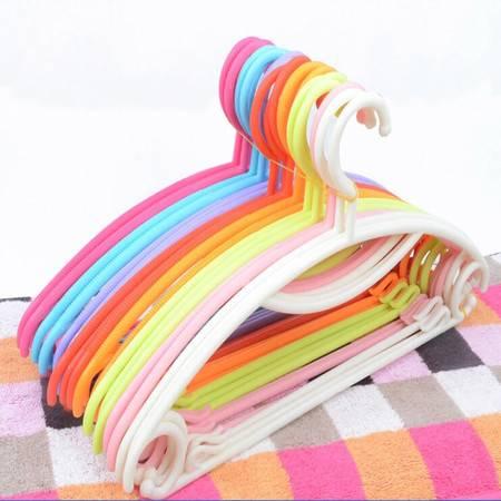 普润 糖果色塑料彩虹晾晒衣架防滑衣服架晾衣架衣挂衣撑阳台晾衣撑 白色 10只装