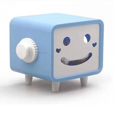 普润 可转动笑脸纸巾抽/纸巾盒--蓝色