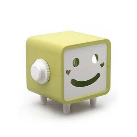 普润 可转动笑脸纸巾抽/纸巾盒--卡其色
