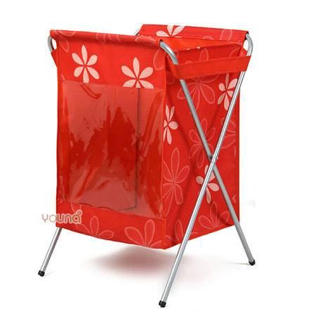 友纳脏衣篮牛津布脏衣篓大号 防水洗衣篮 脏衣服收纳筐篮(大红色)
