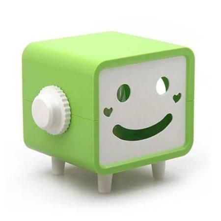 普润 可转动笑脸纸巾抽/纸巾盒--绿色