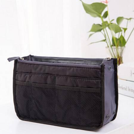 普润 包中包内胆包收纳袋化妆包便携洗漱袋女包手拿收纳包 黑色