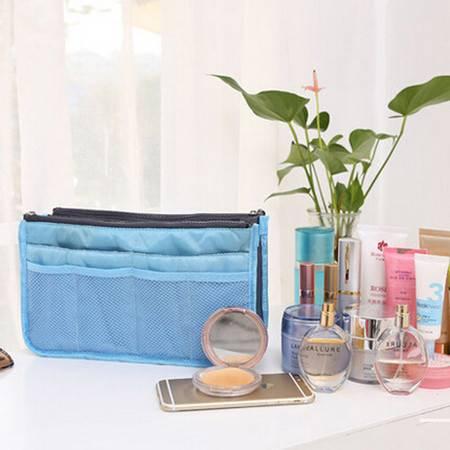 普润 包中包内胆包收纳袋化妆包便携洗漱袋女包手拿收纳包 蓝色