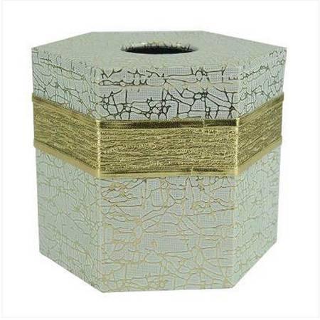 开馨宝凸纹仿皮素雅六角纸巾筒(K8106)