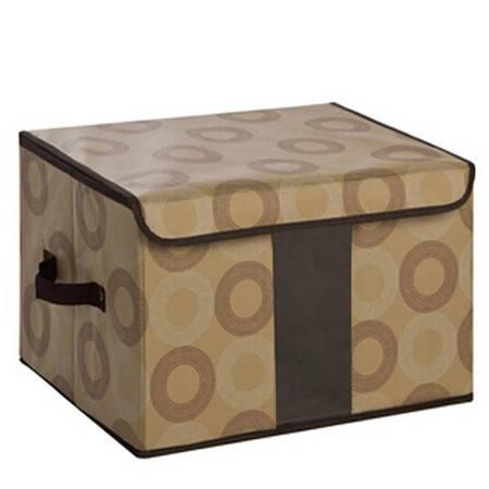 普润 无纺布收纳盒百纳箱 加厚超硬挺透视窗收纳箱 内衣整理箱储物箱
