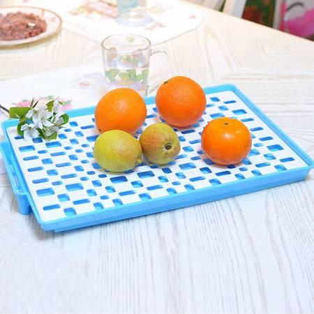 家英欧式双层餐具滤水架 水果托盘