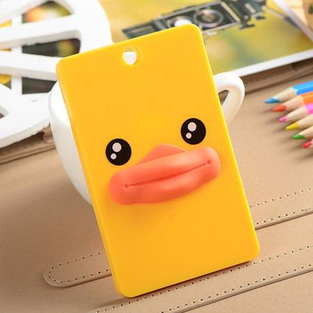 韩版立体超萌卡通卡套钥匙圈-大黄鸭