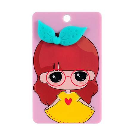 卡通便携式公交卡夹/卡套--眼镜女孩