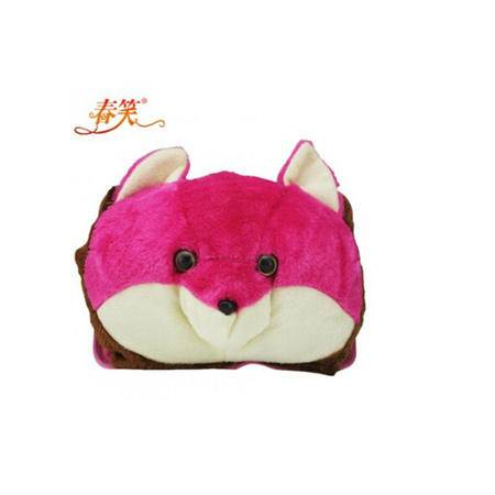 春笑 卡通毛绒双插手电热水袋 粉色熊 CX-KT07