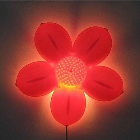 韩式莲花壁灯/卡通儿童房灯儿童房花朵壁灯