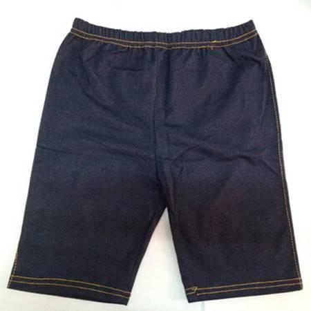 韩版新款显瘦仿牛仔 打底裤蓝 黑颜色随机
