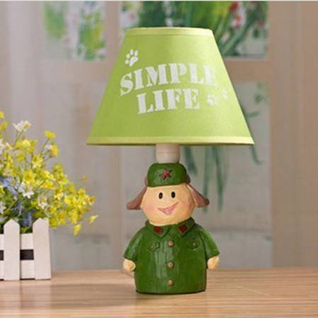 树脂儿童卡通雷锋创意台灯卧室床头装饰台灯创意礼物